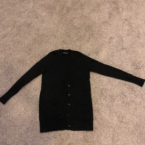 Banana republic black cardigan with pockets
